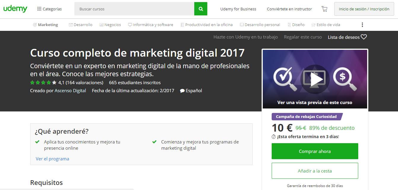 Curso completo de marketing digital 2017