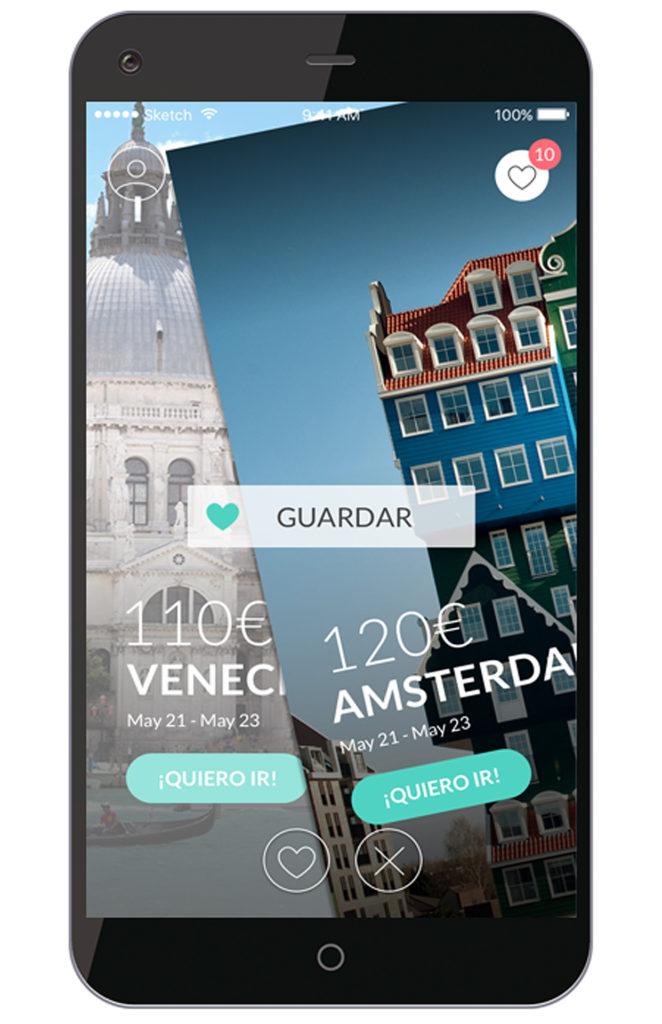 App de El Viajero Fisgón: guardar o descartar destino