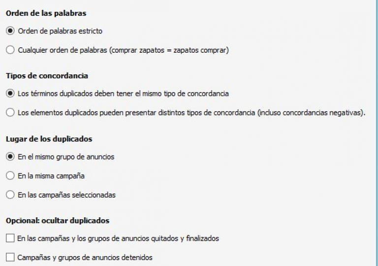 duplicados en Adwords Editor