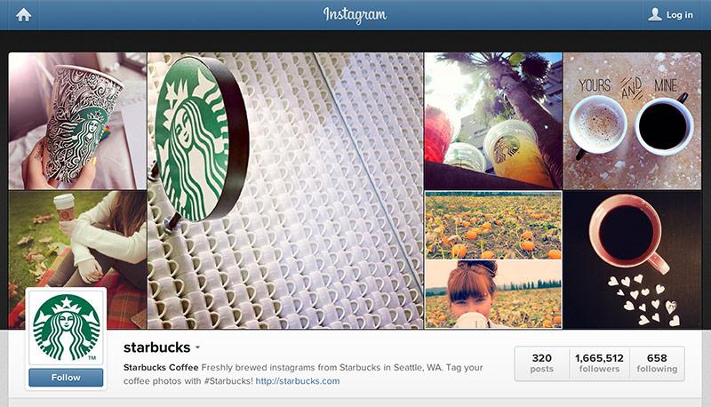 anuncios en Instagram: Starbucks