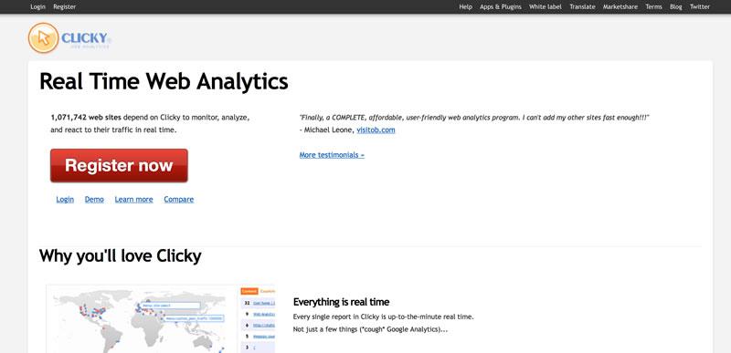 herramientas de analítica web: Clicky