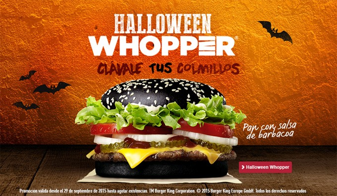 marketing para Halloween: Whopper