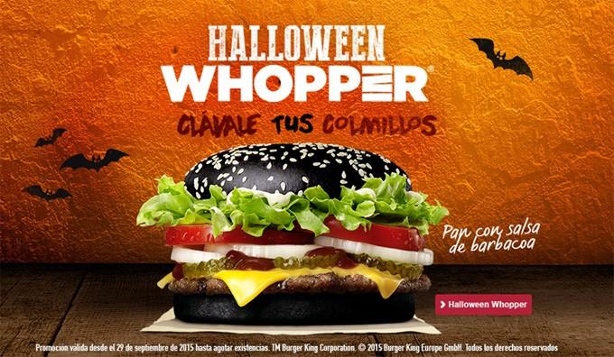 marketing para Halloween: Whopper