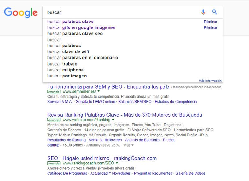 consejos para posicionar un site: keywords