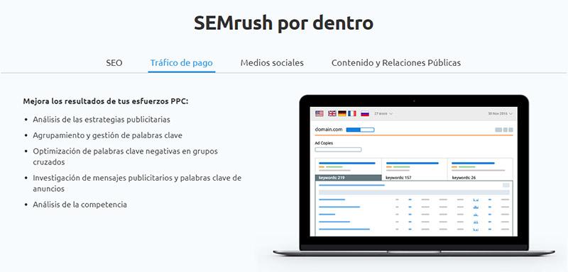 consejos para posicionar un site: semrush