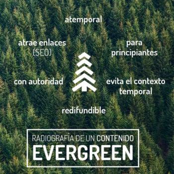 radiografía de contenido evergreen
