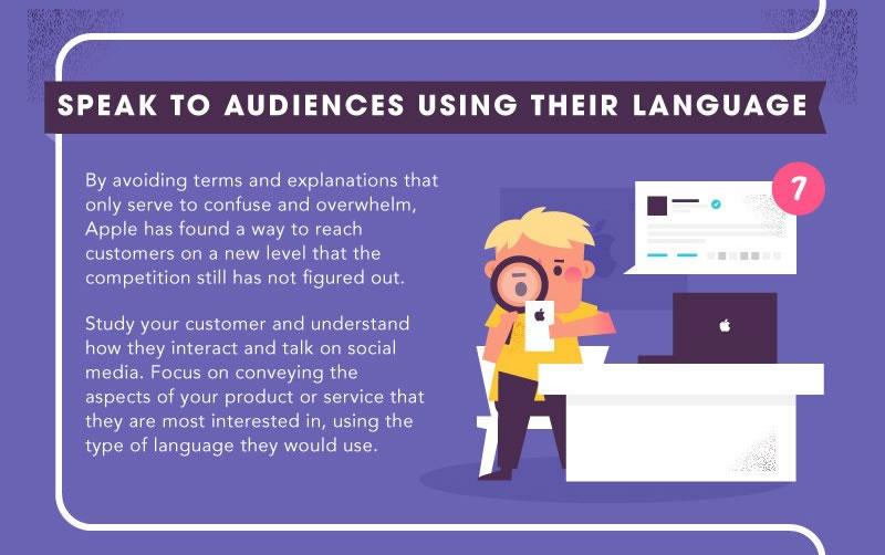lecciones de marketing de Apple: adaptar el lenguaje