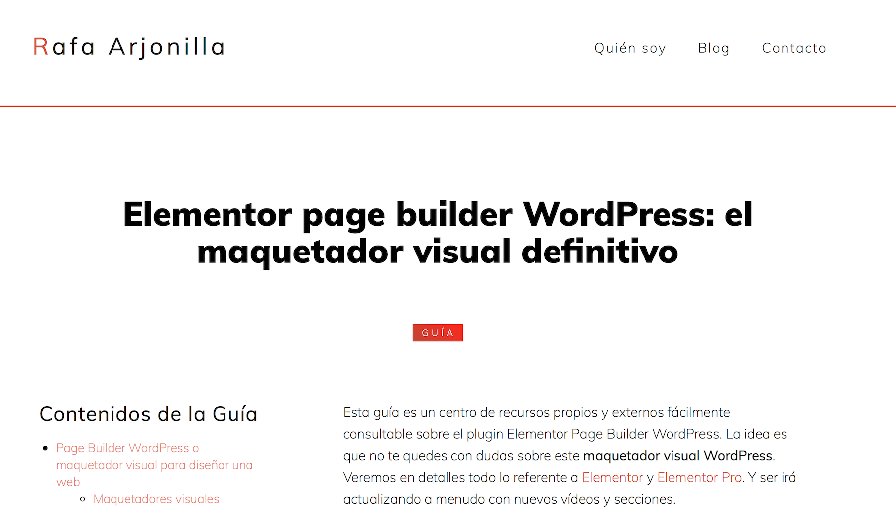 Elementor page builder WordPress: el maquetador visual definitivo (Raja Arjonilla)