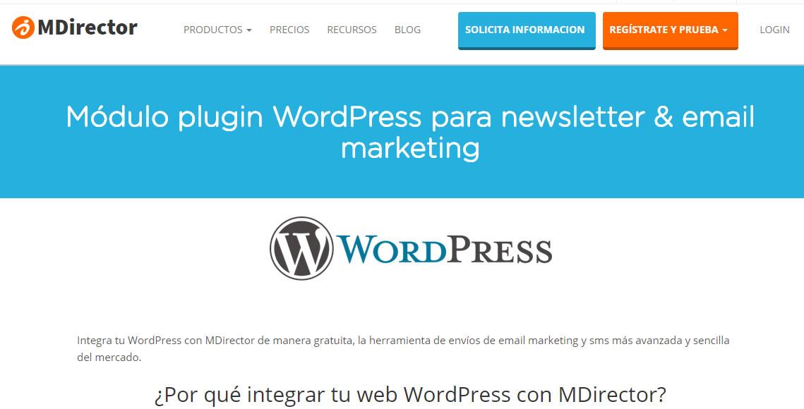 plugin MDirector para wordpress
