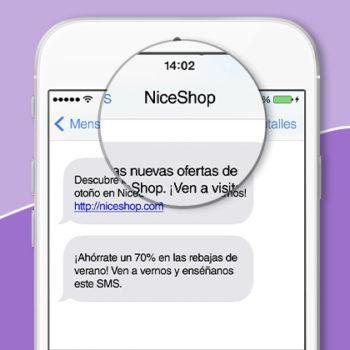 SMS con remitente personalizado