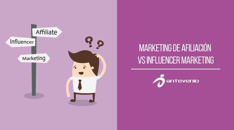 marketing afiliación vs influencer marketing