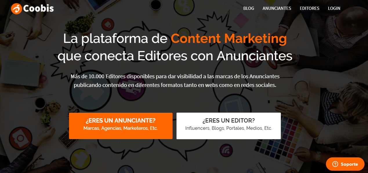 plataformas de content marketing: Coobis