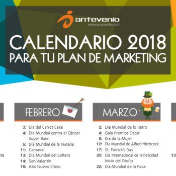 calendario marketing 2018 para Argentina