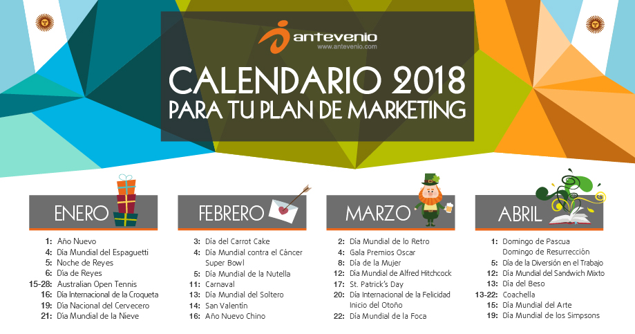 Calendario Diciembre 2018 Argentina.Calendario De Marketing 2018 Para Argentina Planificate