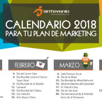 calendario de marketing 2018 para Colombia