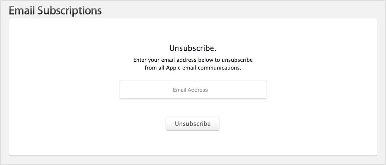 dar de baja emails
