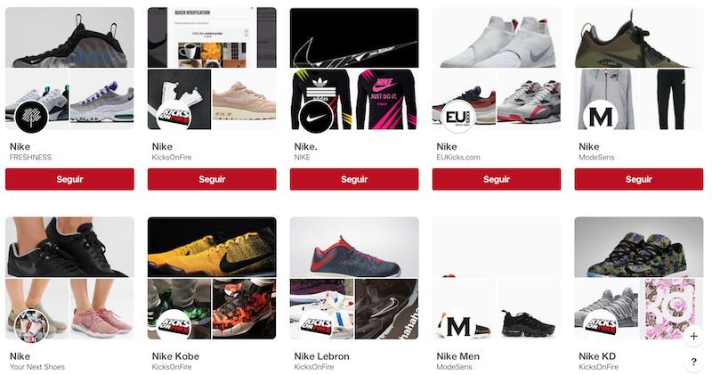 Tableros Nike ejemplo