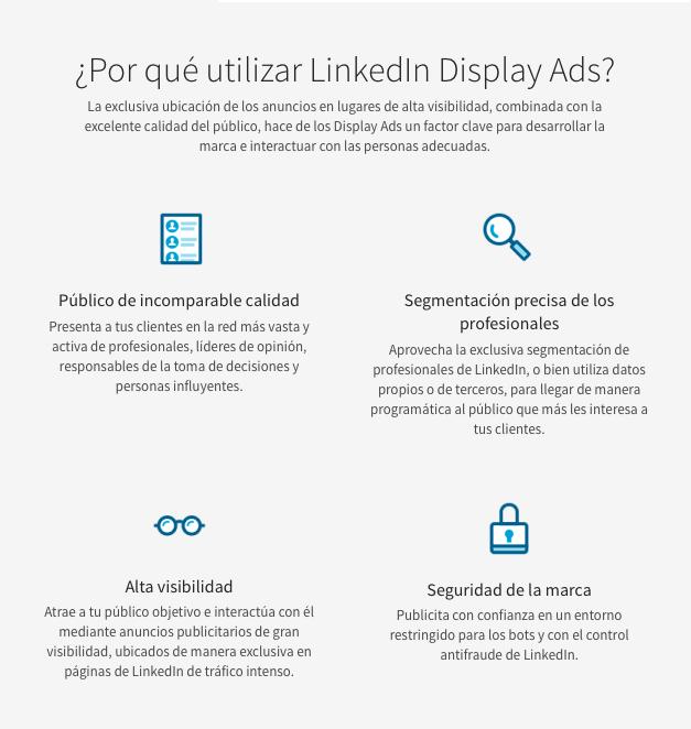 optimizar tus anuncios en LinkedIn Ads display