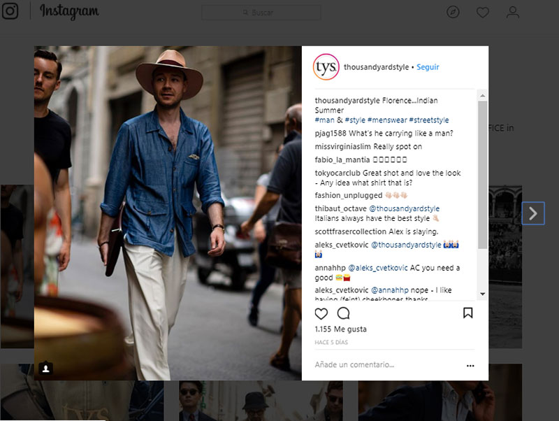 Top ten influencers de moda masculina en instagram for Thousand yard style