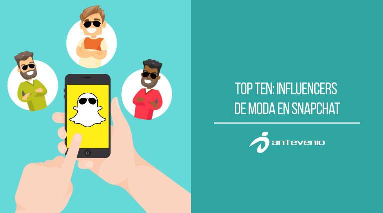 influencers de moda en Snapchat
