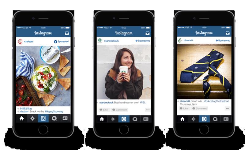 Tipos de publicidad en Instagram