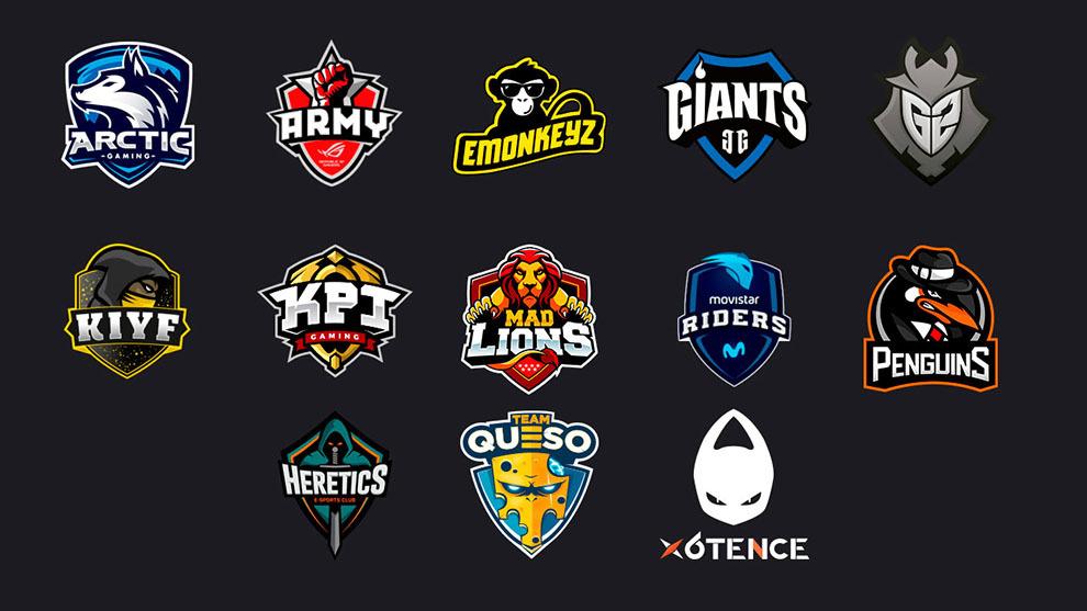 equipos profesionales en una estrategia de marketing en esports