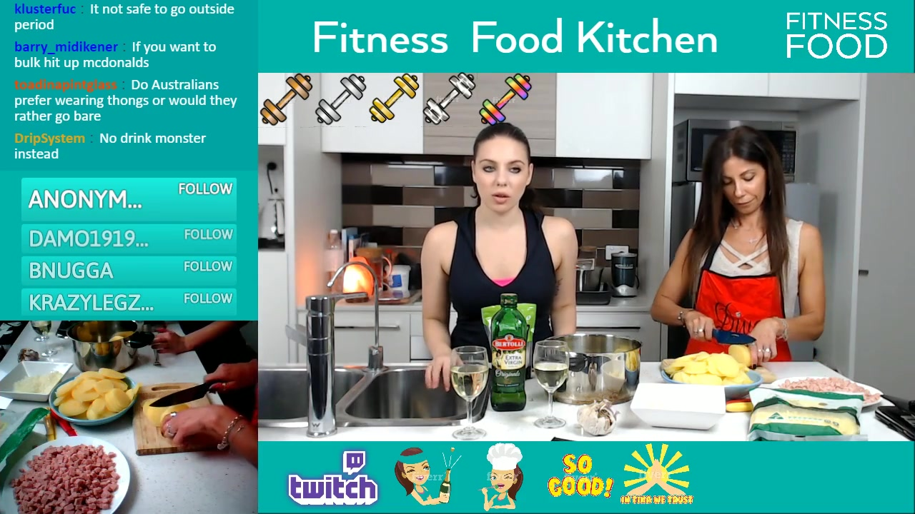 fitness food streaming channel