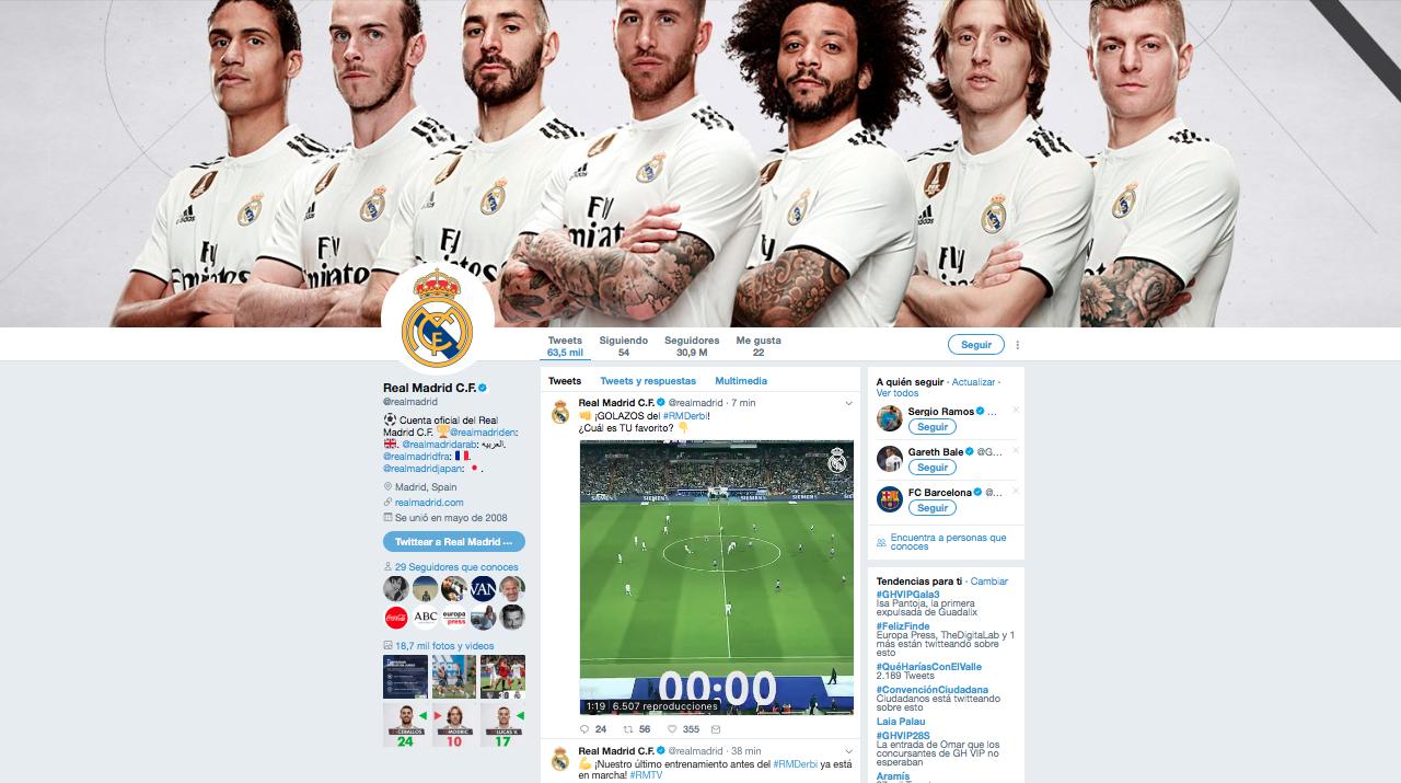 real Madrid marcas con más seguidores en redes sociales