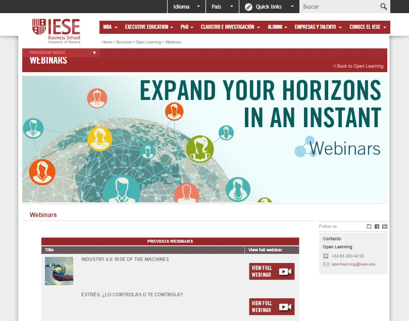 webinars IESE