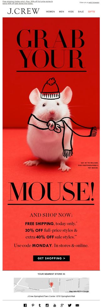 J Crew – 'Grab Your Mouse'