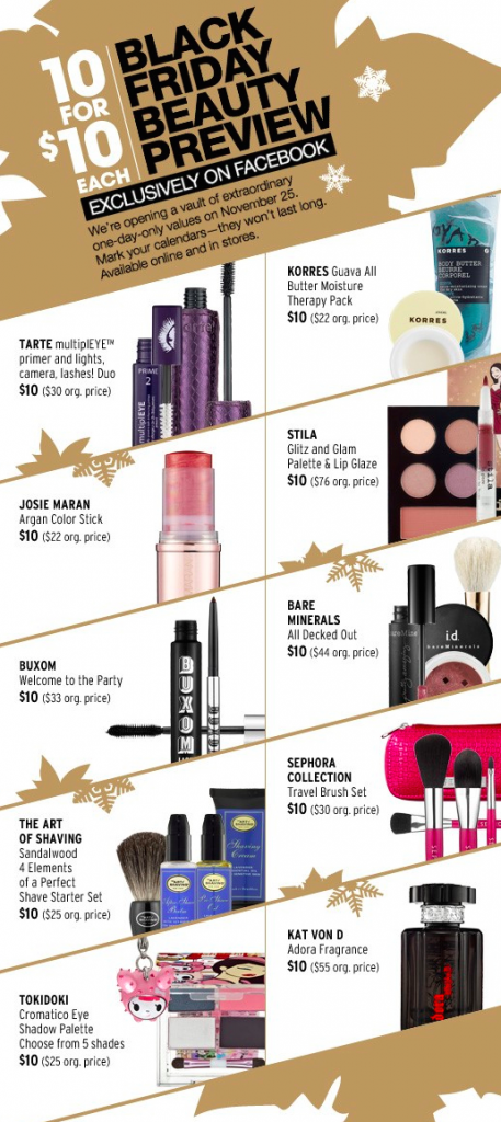 sephora campañas del Black Friday