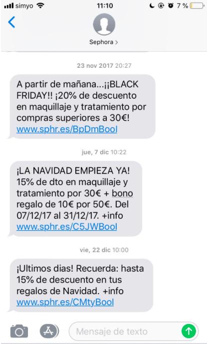 enlaces vender más en Navidad con SMS Marketing