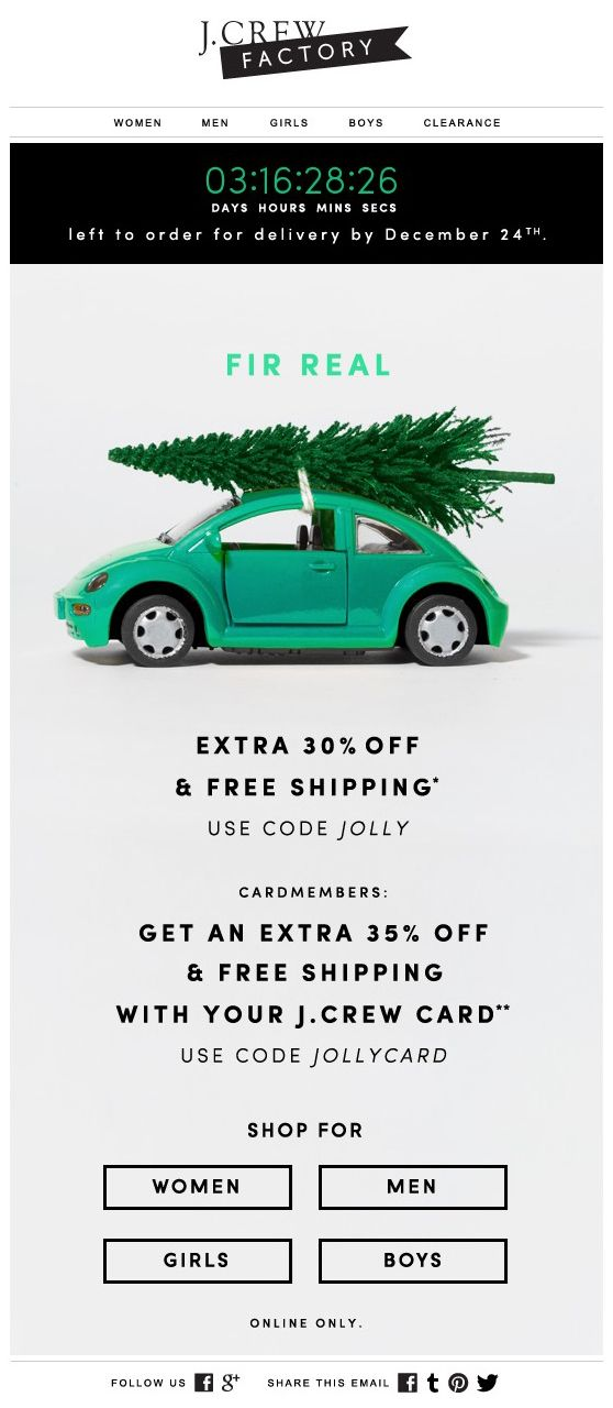 ofertas email marketing para vender más en Navidad