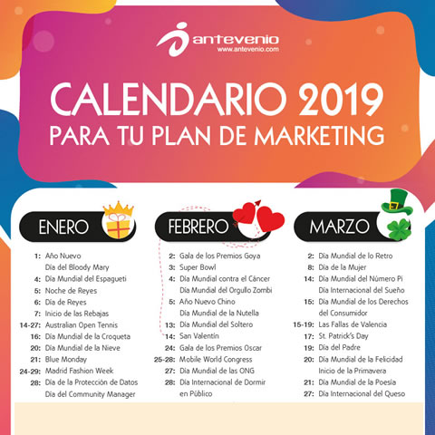Calendario De Dias Internacionales.Calendario De Marketing 2019 Disena El Plan De Marketing Mas Cool