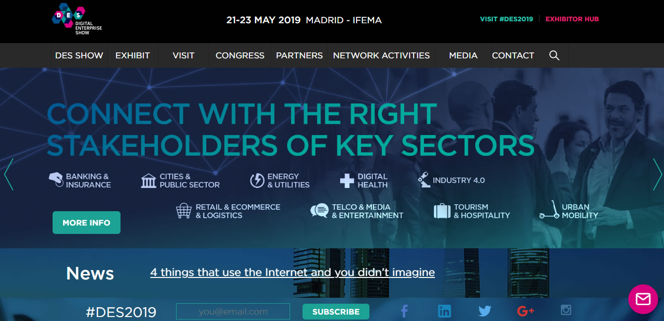 eventos de Marketing Digital en Europa de 2019 - Digital Business World Congress