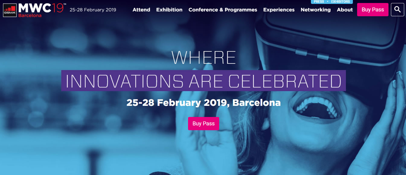 eventos de Marketing Digital en Europa de 2019 - Mobile World Congress