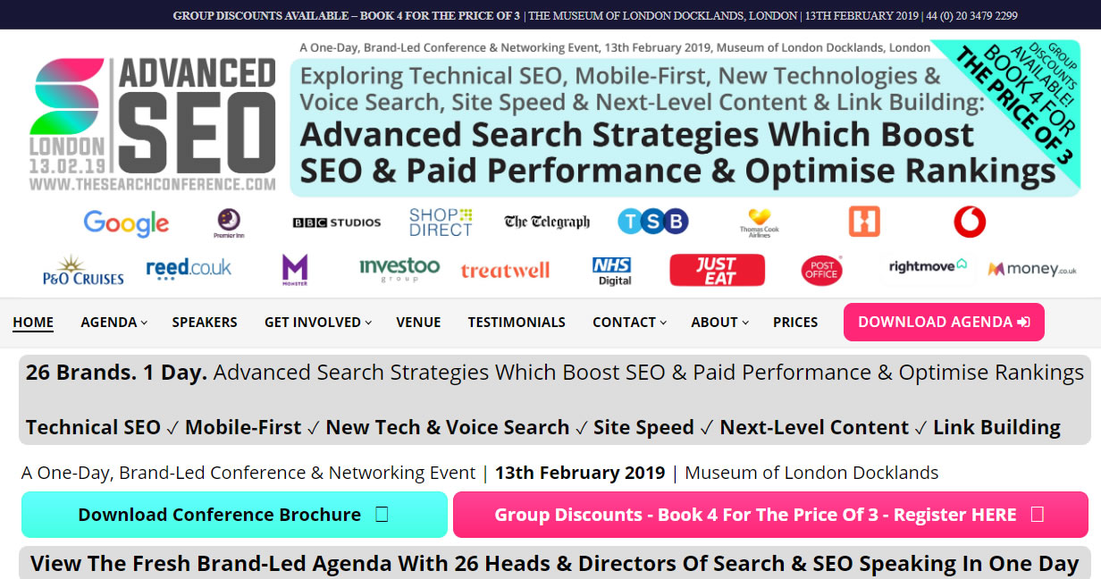 eventos de Marketing Digital en Europa de 2019 - The Advanced Search Conference