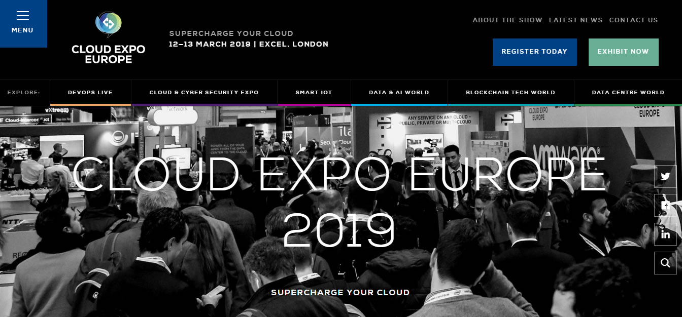 eventos de Marketing Digital en Europa de 2019 - Cloud Expo Europe