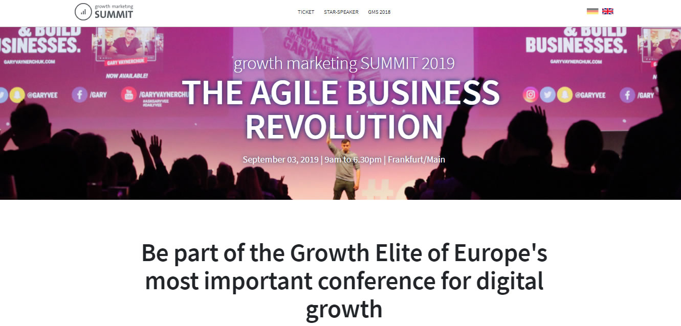 eventos de Marketing Digital en Europa de 2019 - Growth Marketing Summit 2019
