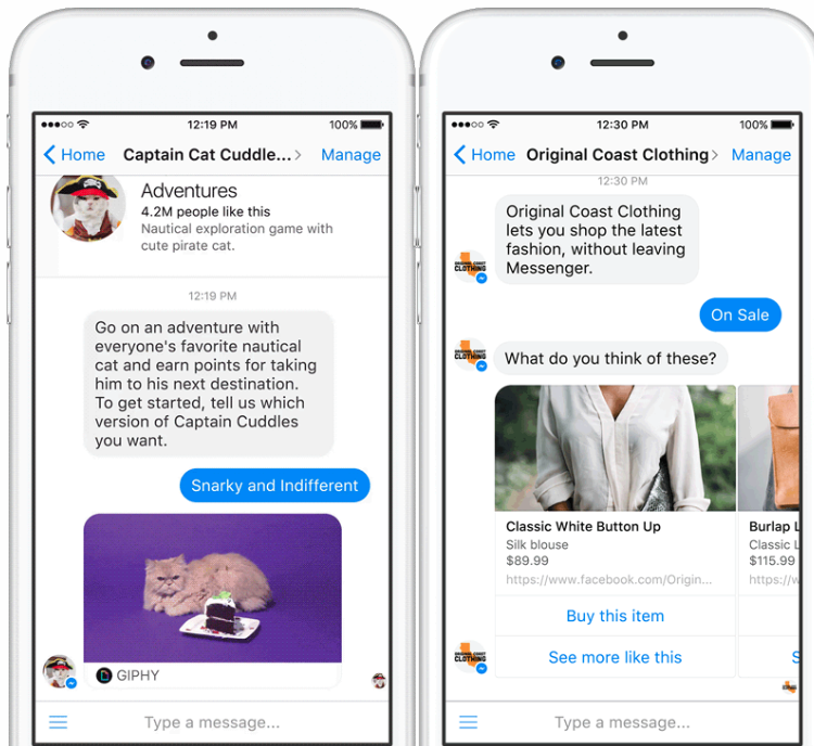 chatbot en Facebook Messenger humanizar