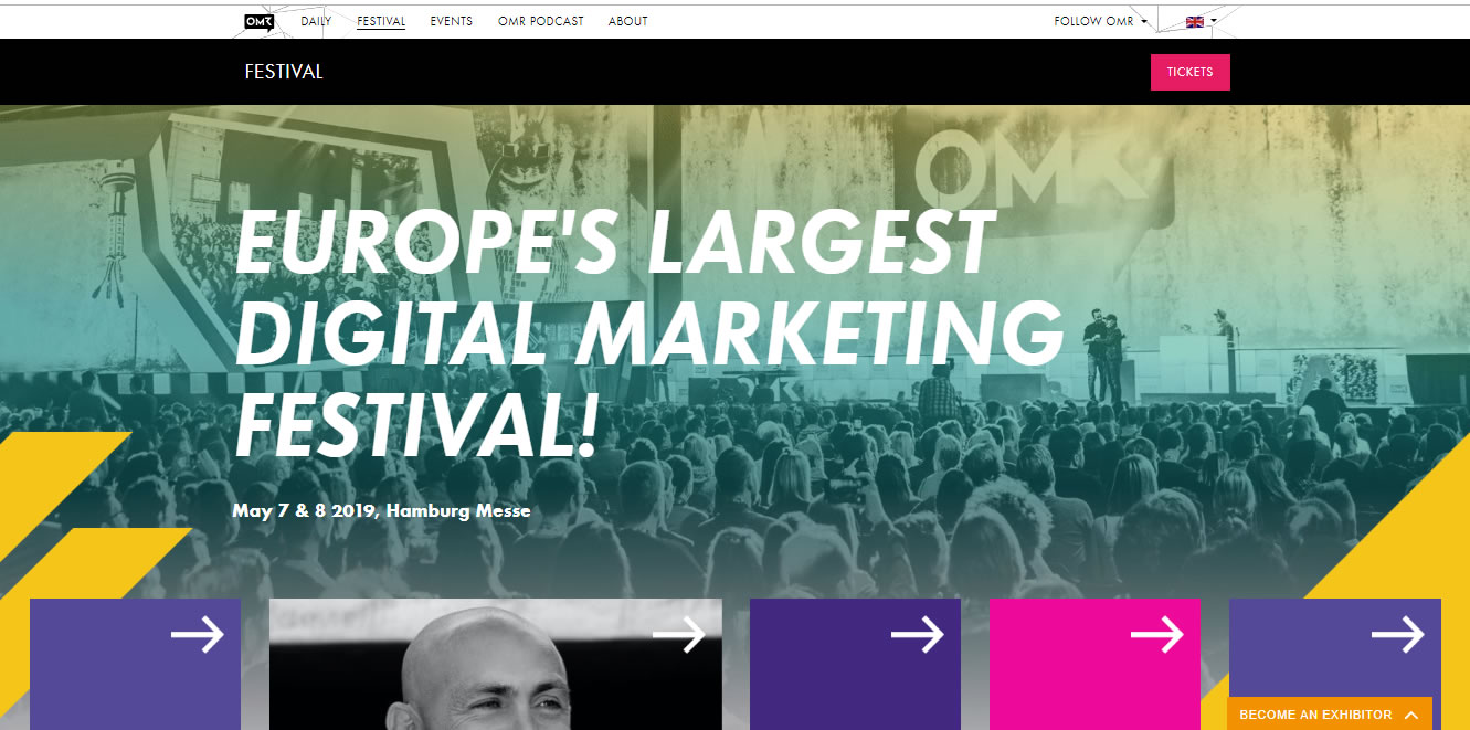 eventos de Marketing Digital en Europa de 2019 - OMR Festival 2019