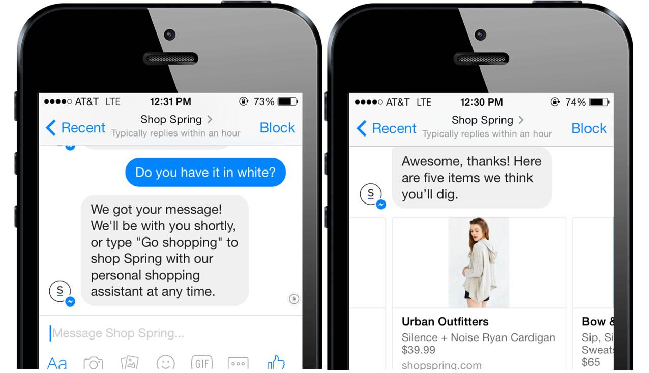 chatbot en Facebook Messenger disponibilidad