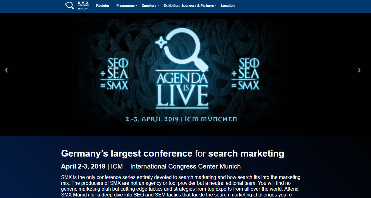 eventos de Marketing Digital en Europa de 2019 - SMX Germany
