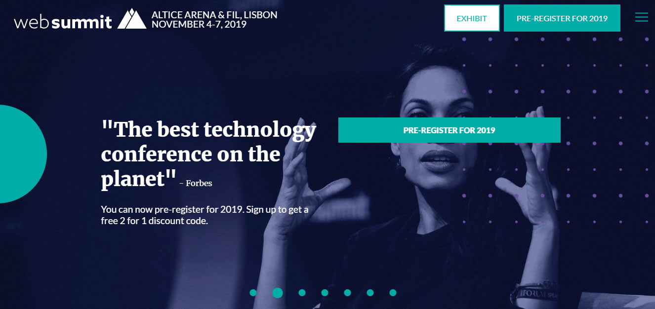 eventos de Marketing Digital en Europa de 2019 - Web Summit