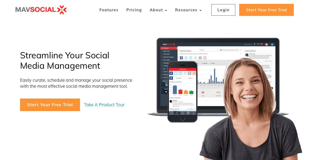 herramientas de Social Media mavsocial