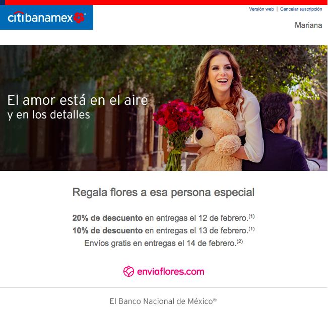 performance marketing bancario en México email