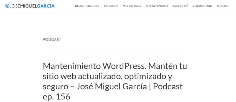 Podcast de José Miguel García