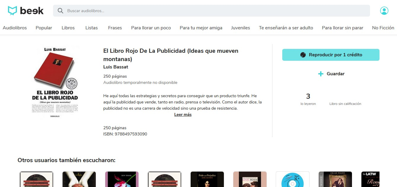 Los mejores audiolibros sobre marketing en español: El libro rojo de la publicidad