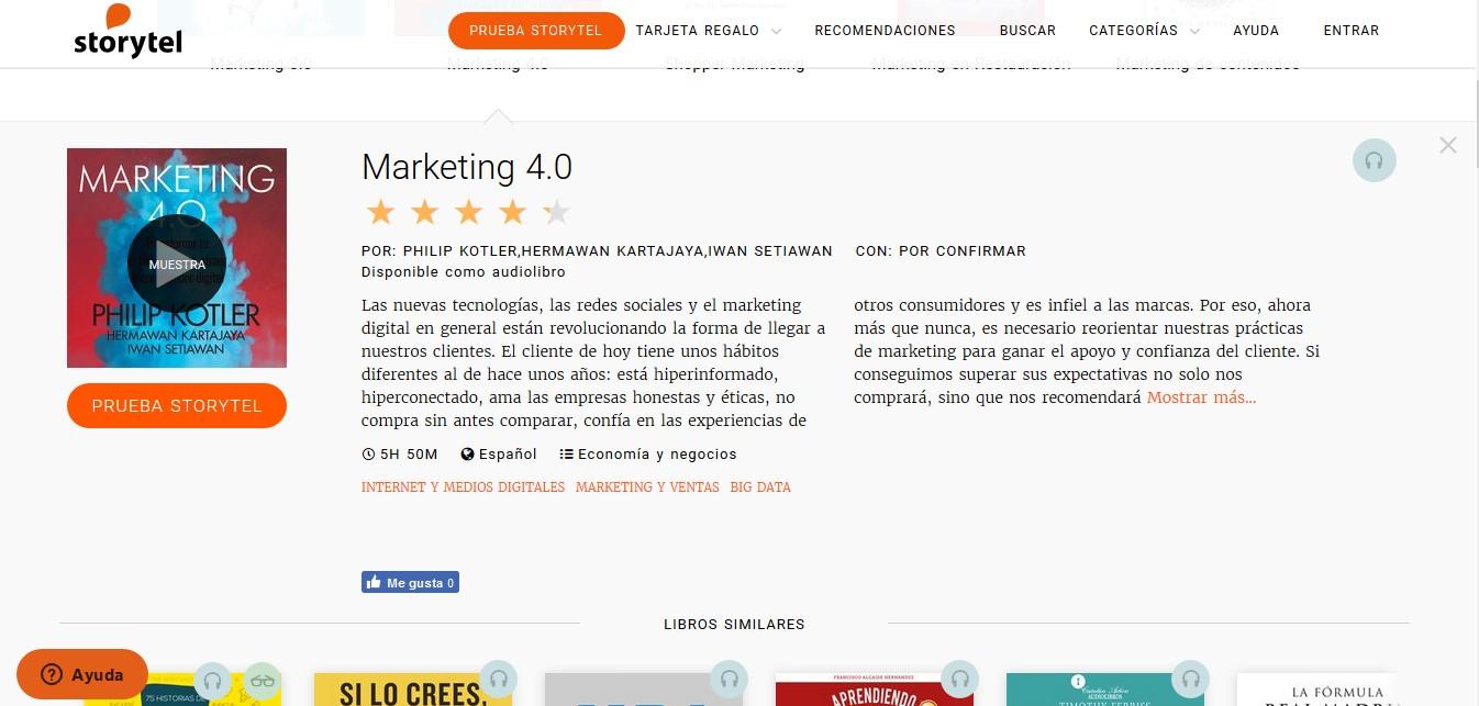 Los mejores audiolibros sobre marketing en español: Marketing 4.0