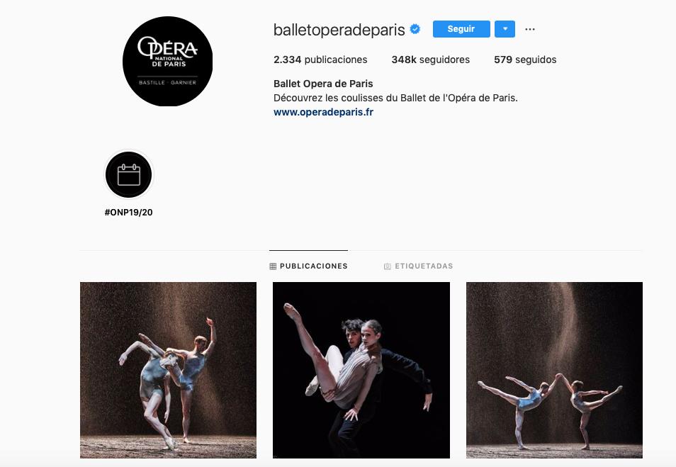Comunidades de marca con más seguidores en la generación Alpha: Ballet Opera de París